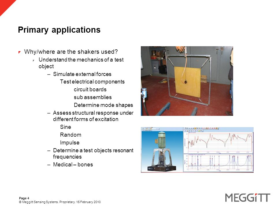 Page 15 © Meggitt Sensing Systems. Proprietary. 15 February 2010 F10