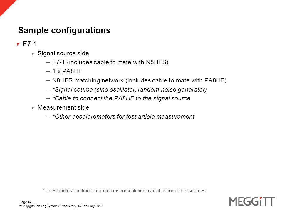 Page 42 © Meggitt Sensing Systems. Proprietary.