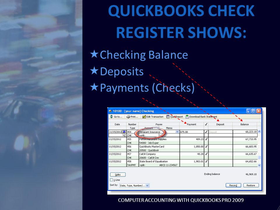  Customer Payments are entered using Receive Payments (Customer section of Home page)  Undeposited funds are customer payments received but not deposited yet  Nonsales receipts can be entered using Record Deposits window RECORD DEPOSITS COMPUTER ACCOUNTING WITH QUICKBOOKS PRO 2009