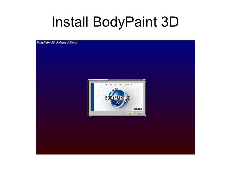 Install BodyPaint 3D
