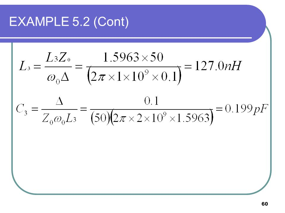 60 EXAMPLE 5.2 (Cont)