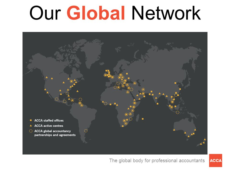 The global body for professional accountants Our Global Network