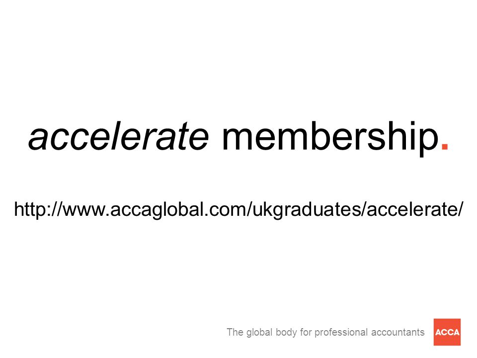 The global body for professional accountants accelerate membership.