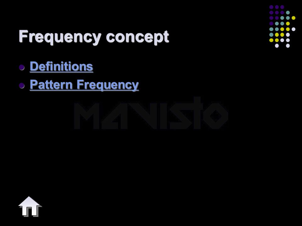 2015-4-16www.brainybetty.com4 Frequency concept Definitions Definitions Definitions Pattern Frequency Pattern Frequency Pattern Frequency Pattern Freq