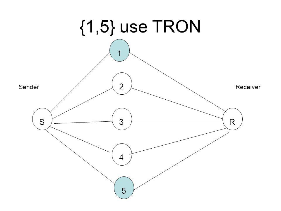 {1,5} use TRON SR3 2 1 4 5 SenderReceiver