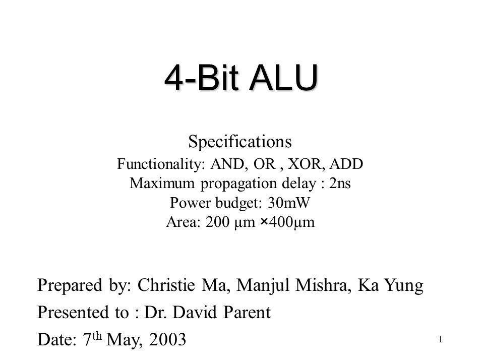 22 4-bit ALU Schematic