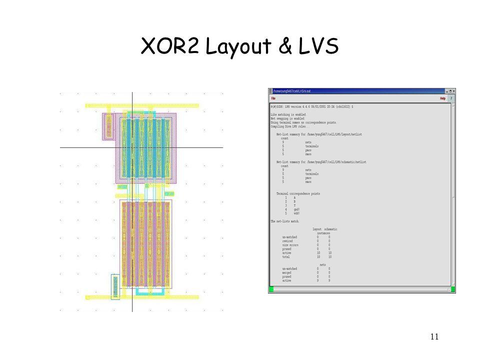 11 XOR2 Layout & LVS