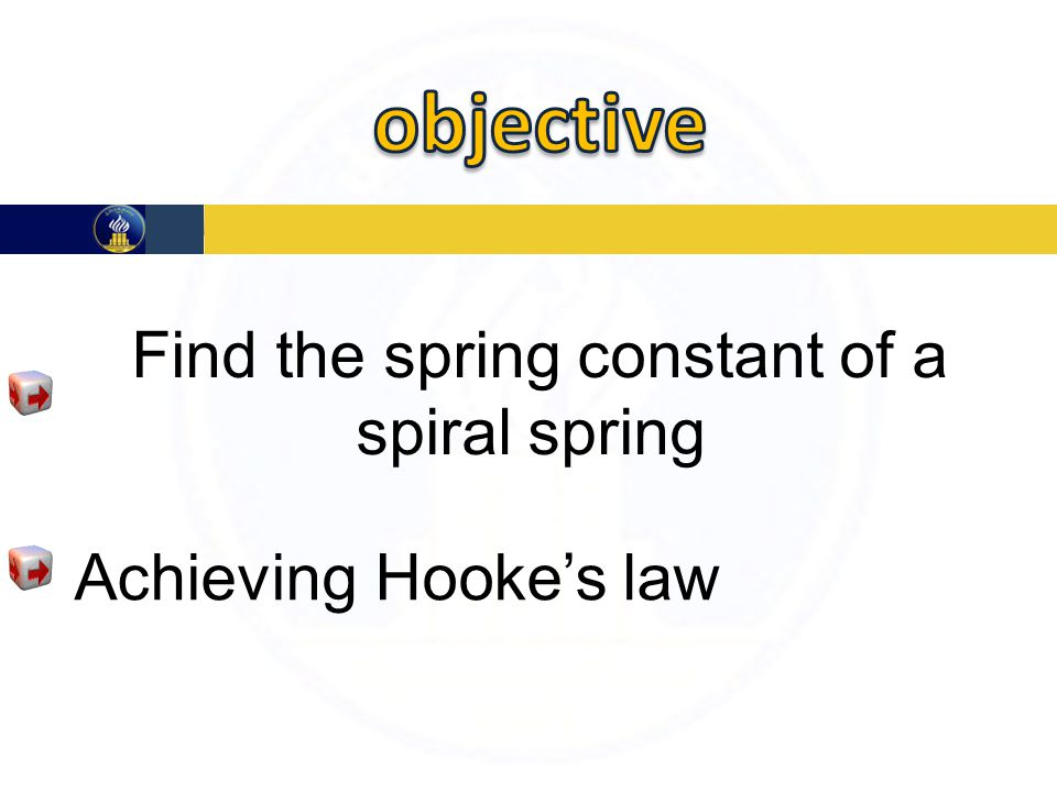Find the spring constant of a spiral spring Achieving Hooke's law