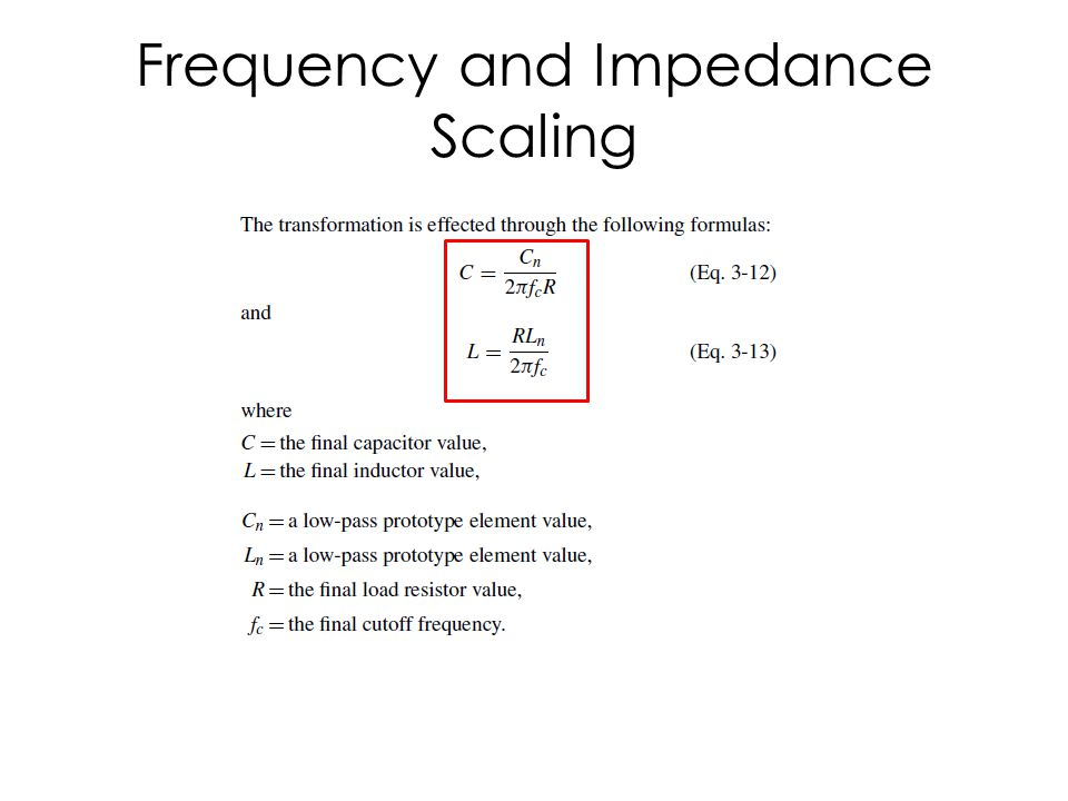 Impedance Scaling