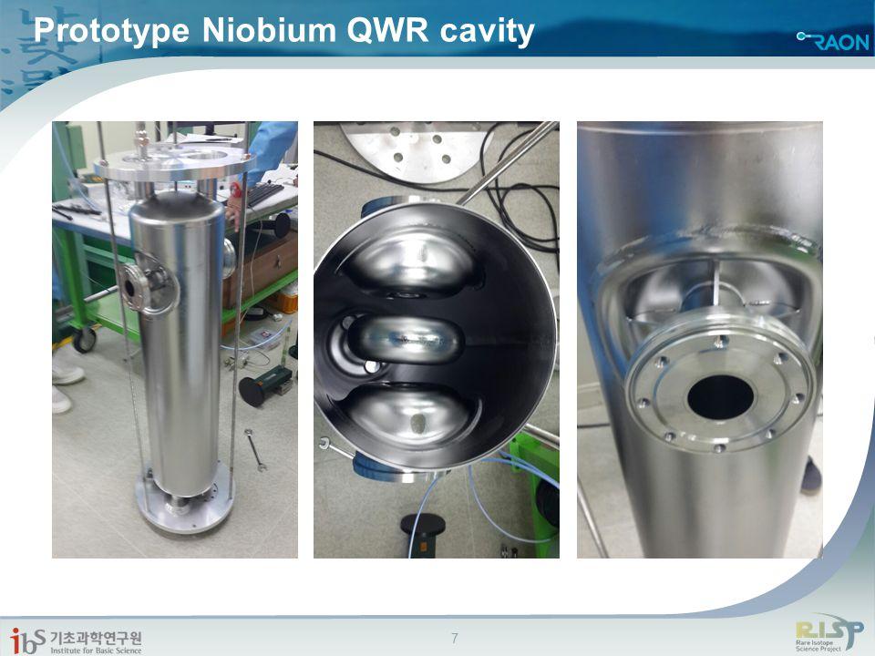Prototype Niobium QWR cavity 7