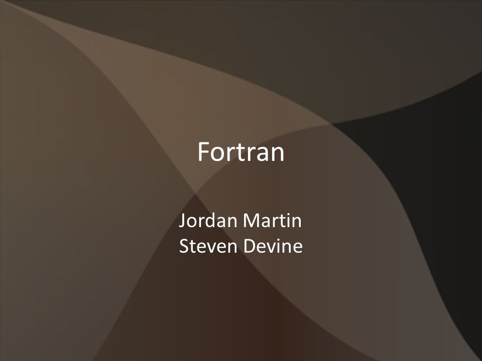 Fortran Jordan Martin Steven Devine