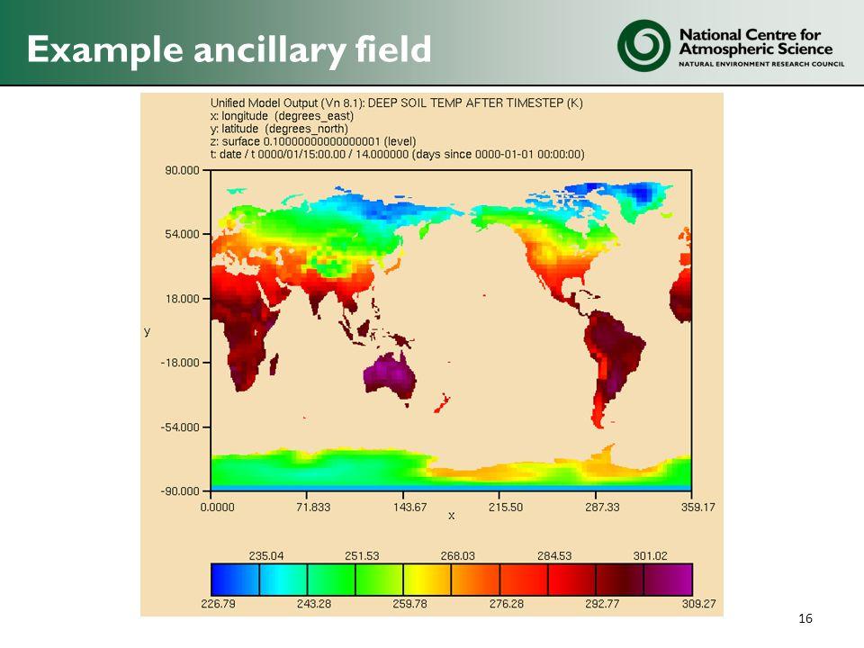 Example ancillary field 16
