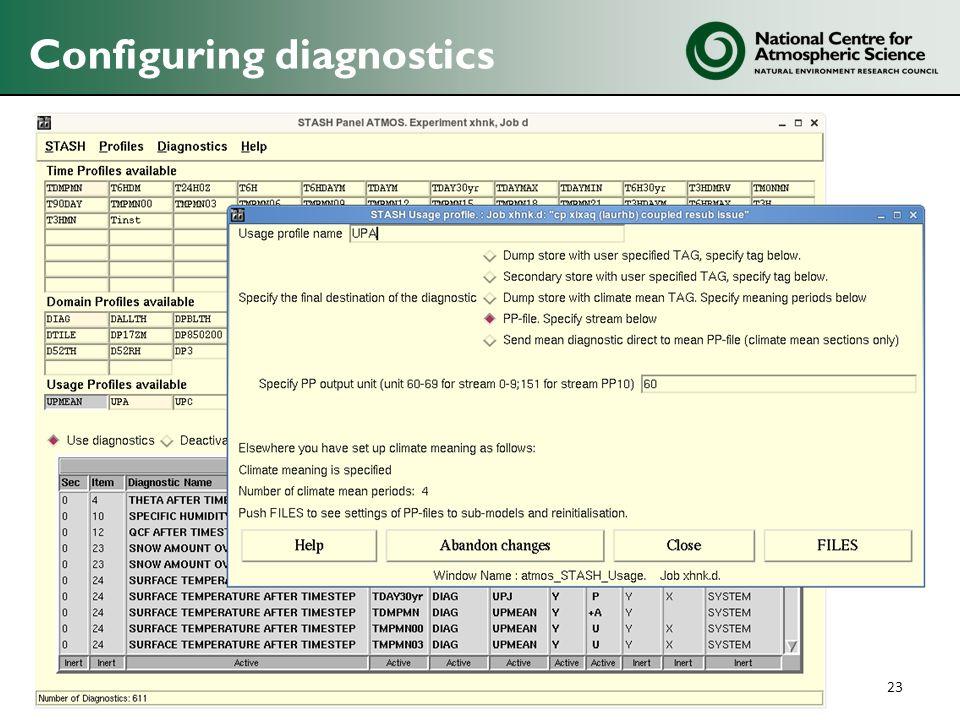 Configuring diagnostics 23