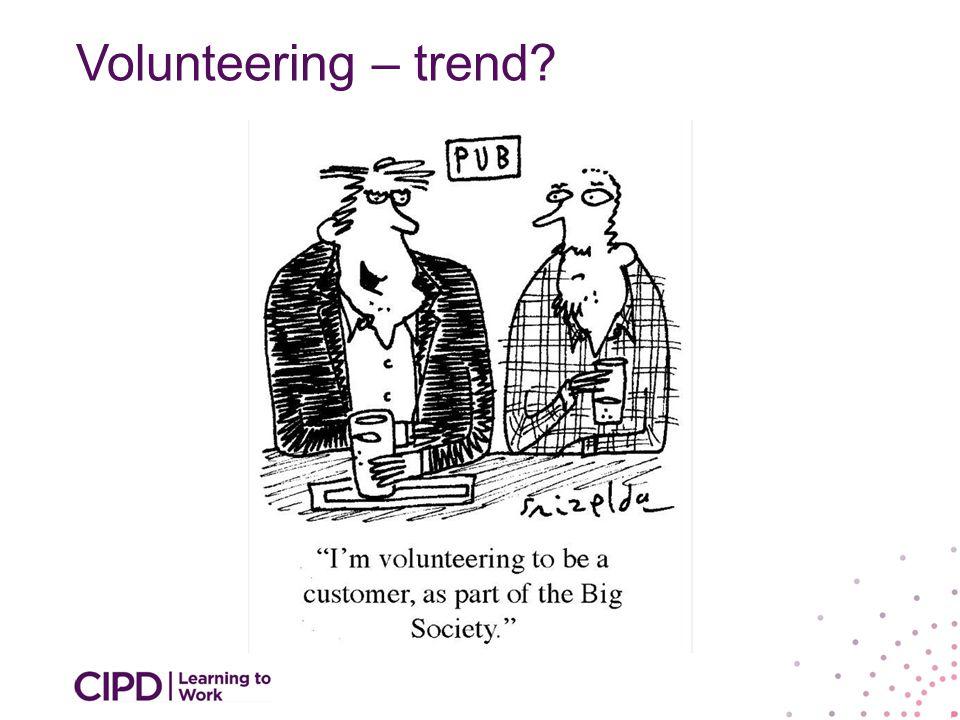Volunteering – trend