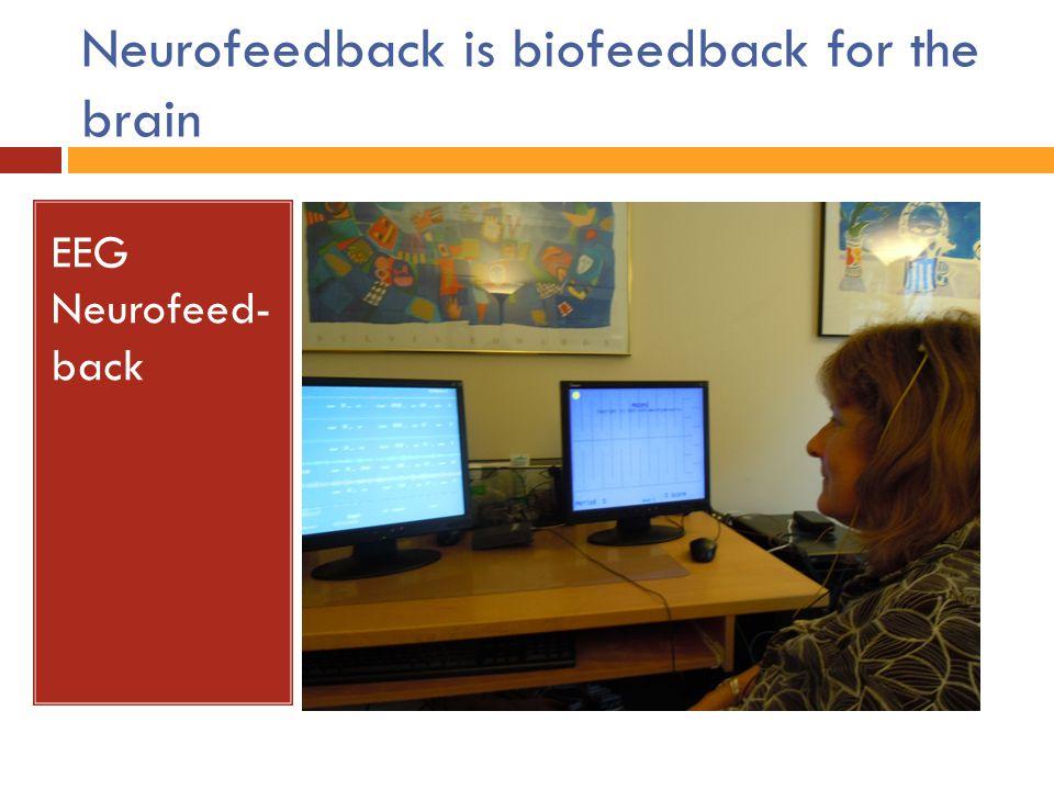 Neurofeedback is biofeedback for the brain EEG Neurofeed- back