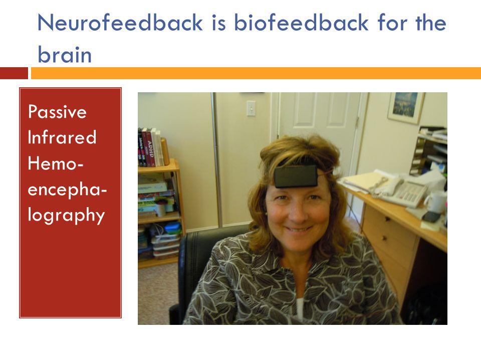 Neurofeedback is biofeedback for the brain Passive Infrared Hemo- encepha- lography