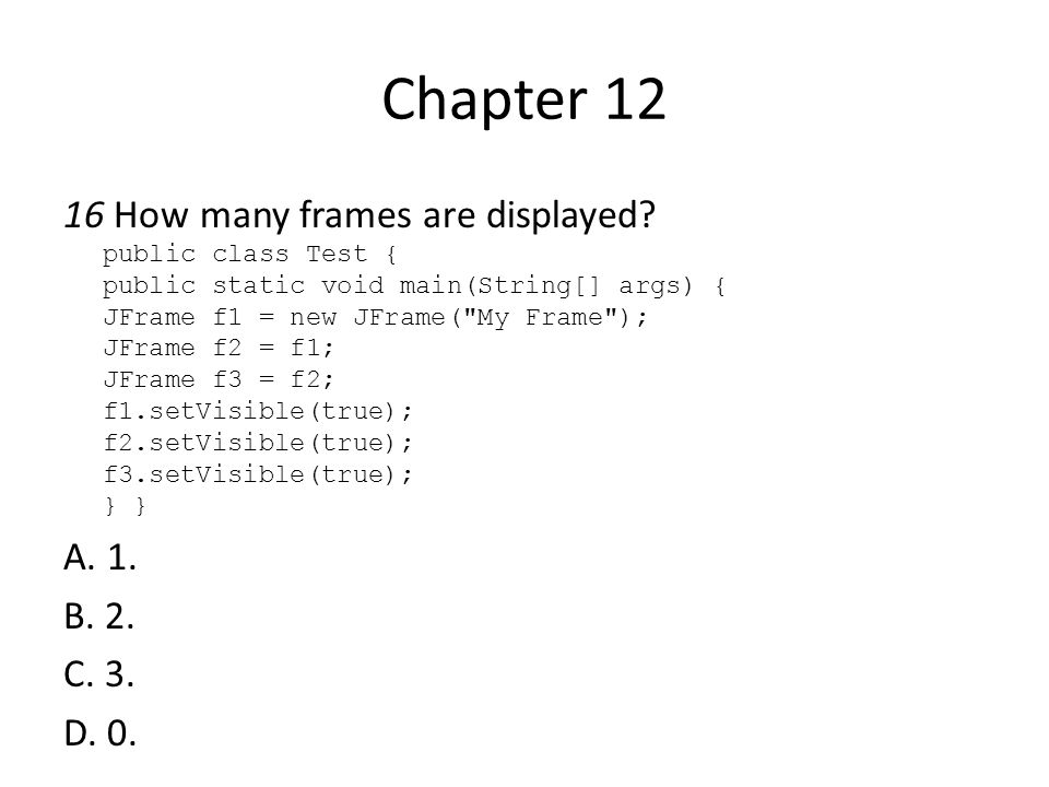 Chapter 17 1 Clicking a JButton object generates __________ events.
