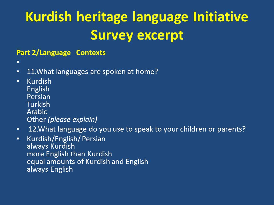 Part 2/Language Contexts 11.What languages are spoken at home.