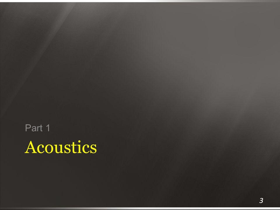 Acoustics Part 1 3