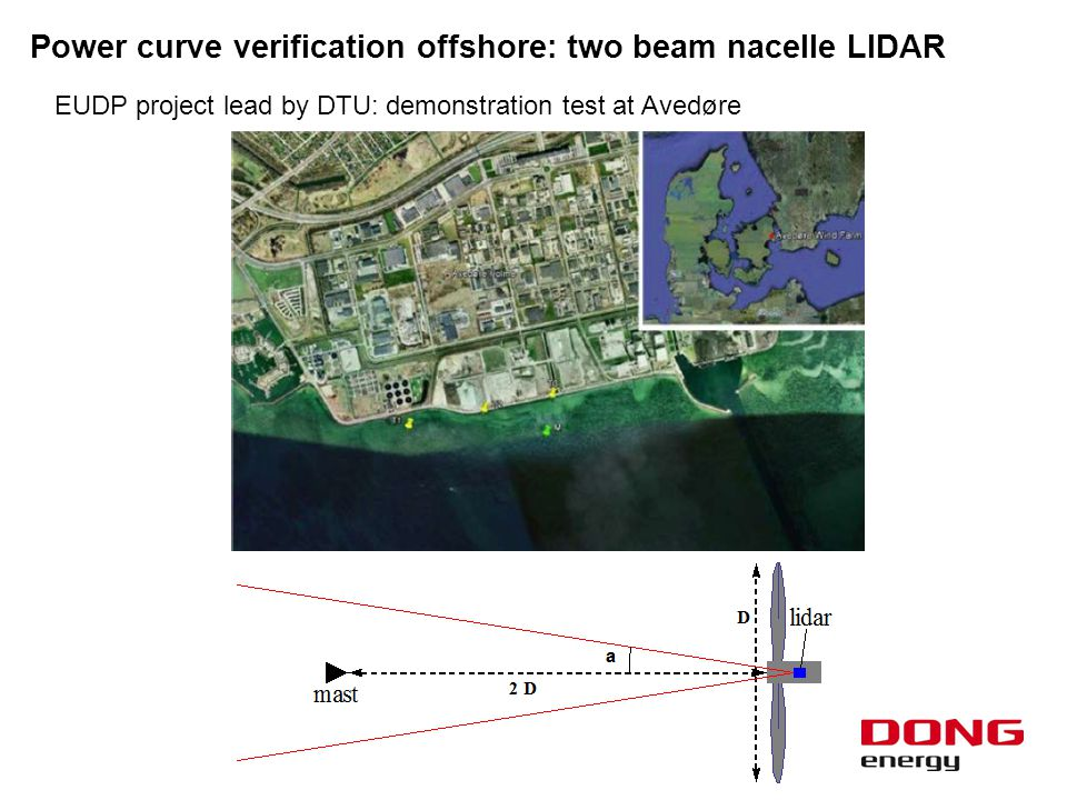  Comparison of results as outcome of the EUDP project lead by DTU 9 Power curve verification offshore: two beam nacelle LIDAR DTU Wind Energy E-0016