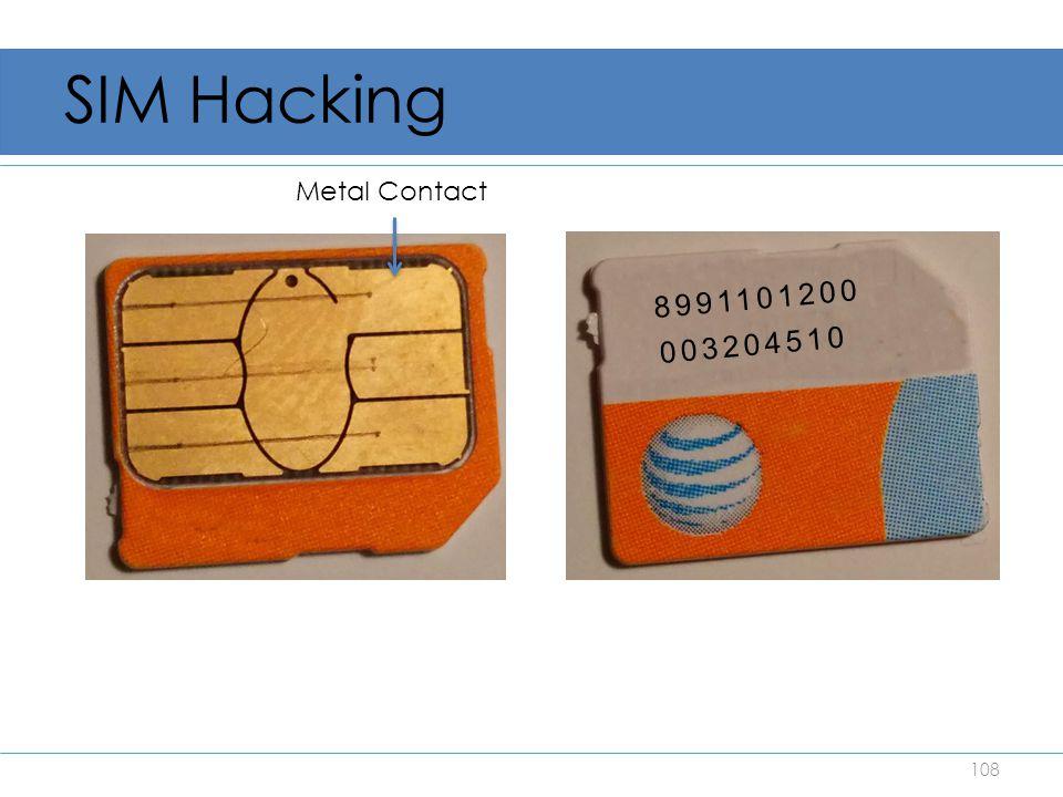 SIM Hacking 108 8991101200 003204510 Metal Contact