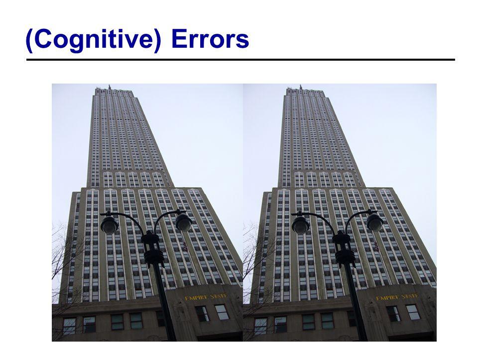 (Cognitive) Errors