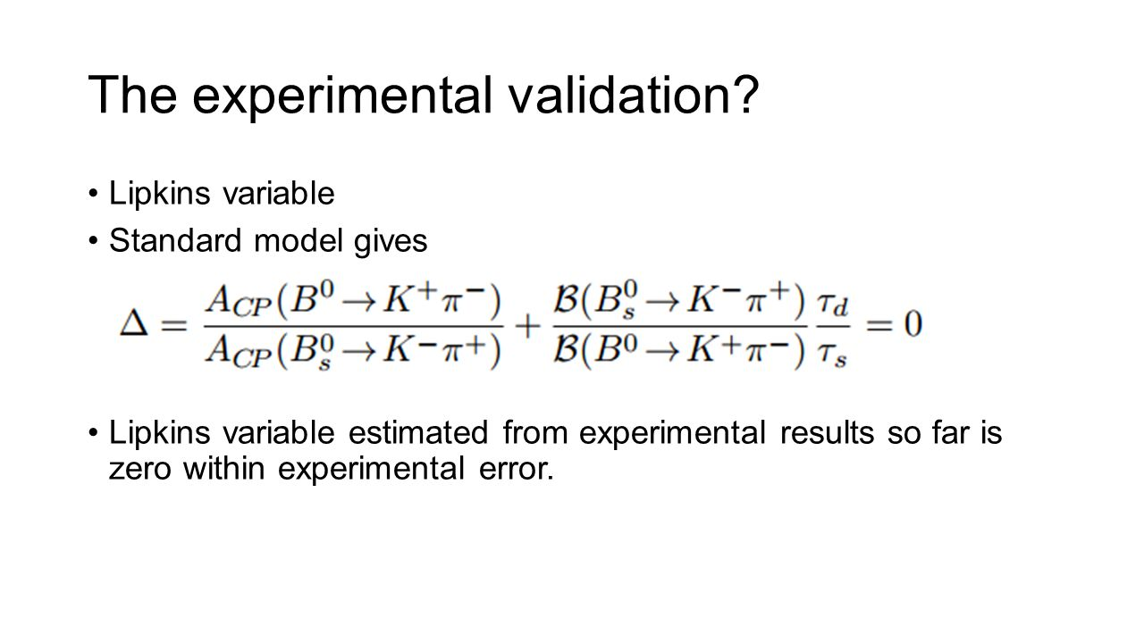 The experimental validation.