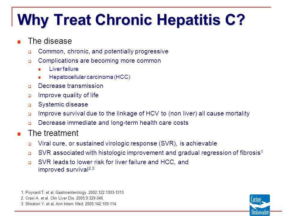 Why Treat Chronic Hepatitis C.