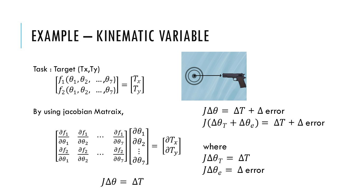 EXAMPLE – KINEMATIC VARIABLE
