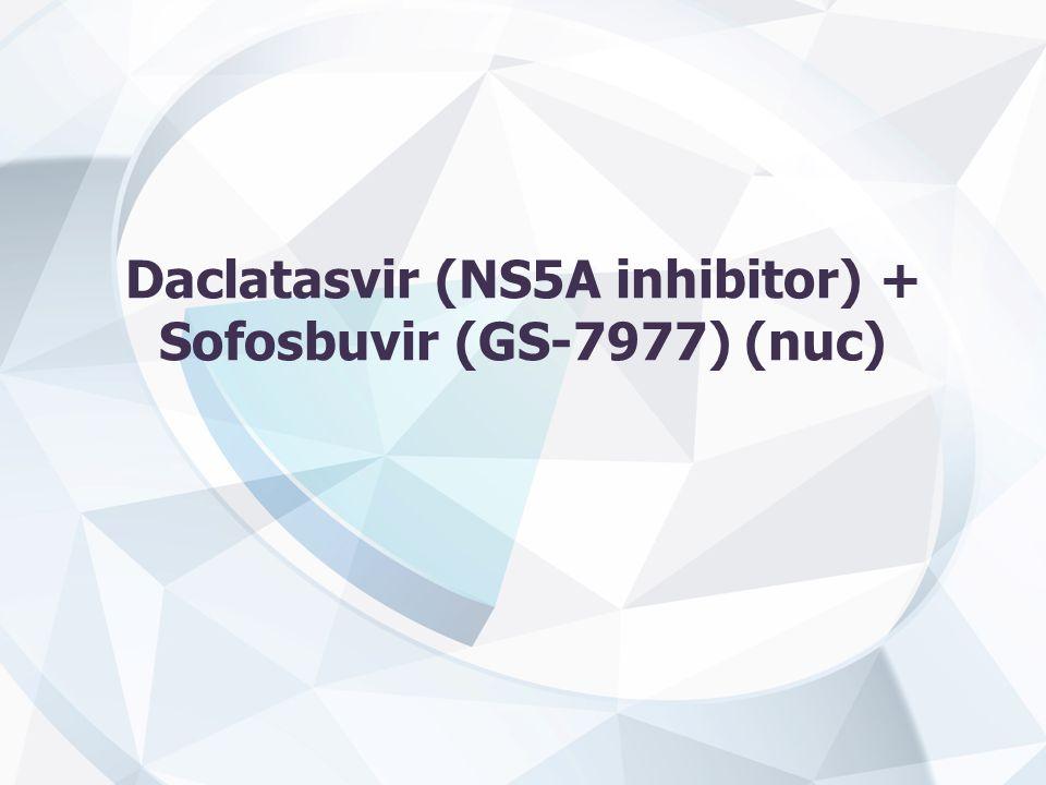 Daclatasvir (NS5A inhibitor) + Sofosbuvir (GS-7977) (nuc)