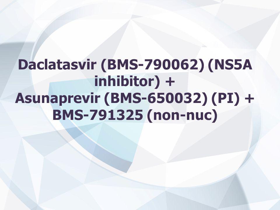 Daclatasvir (BMS-790062) (NS5A inhibitor) + Asunaprevir (BMS-650032) (PI) + BMS-791325 (non-nuc)