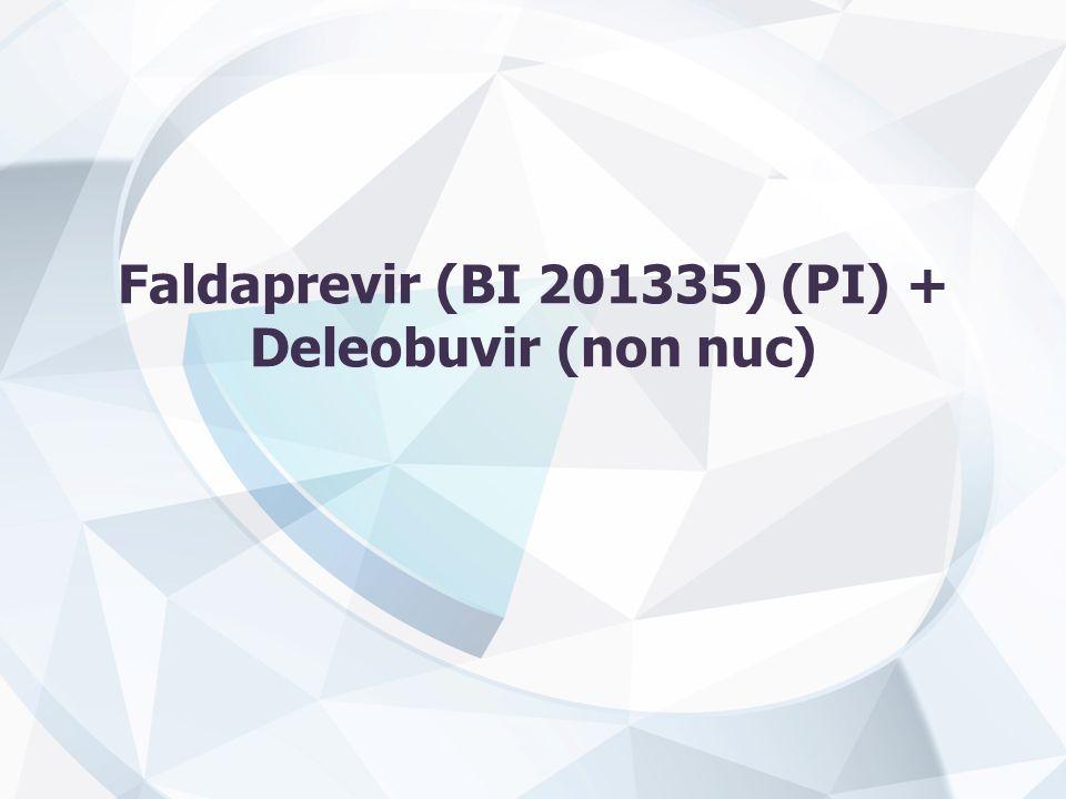 Faldaprevir (BI 201335) (PI) + Deleobuvir (non nuc)