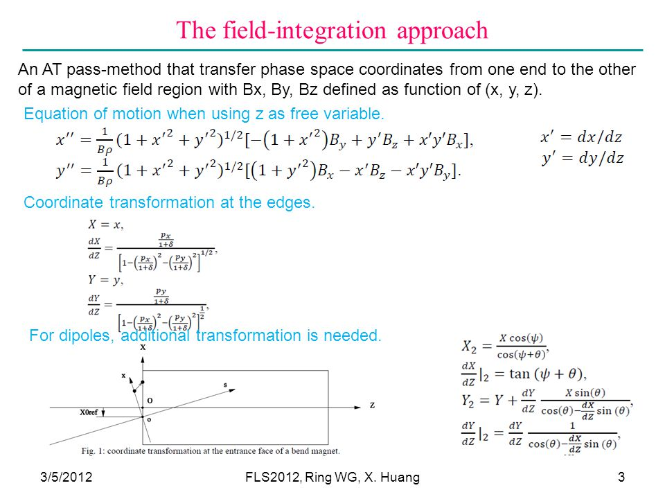 The field-integration approach 3/5/2012FLS2012, Ring WG, X.
