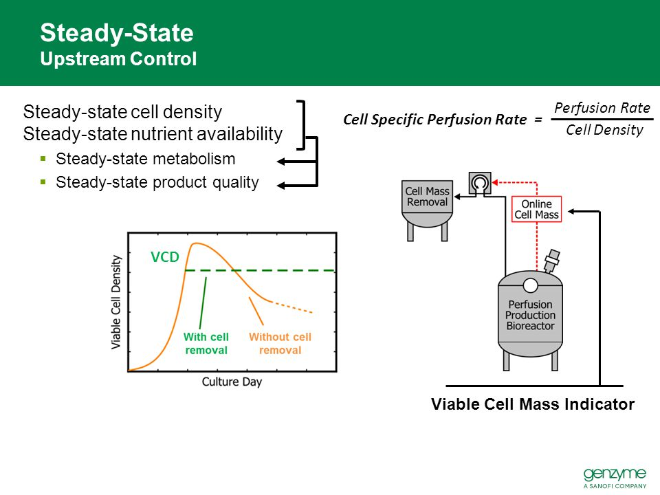 Steady-state cell density Steady-state nutrient availability  Steady-state metabolism  Steady-state product quality Steady-State Upstream Control VC