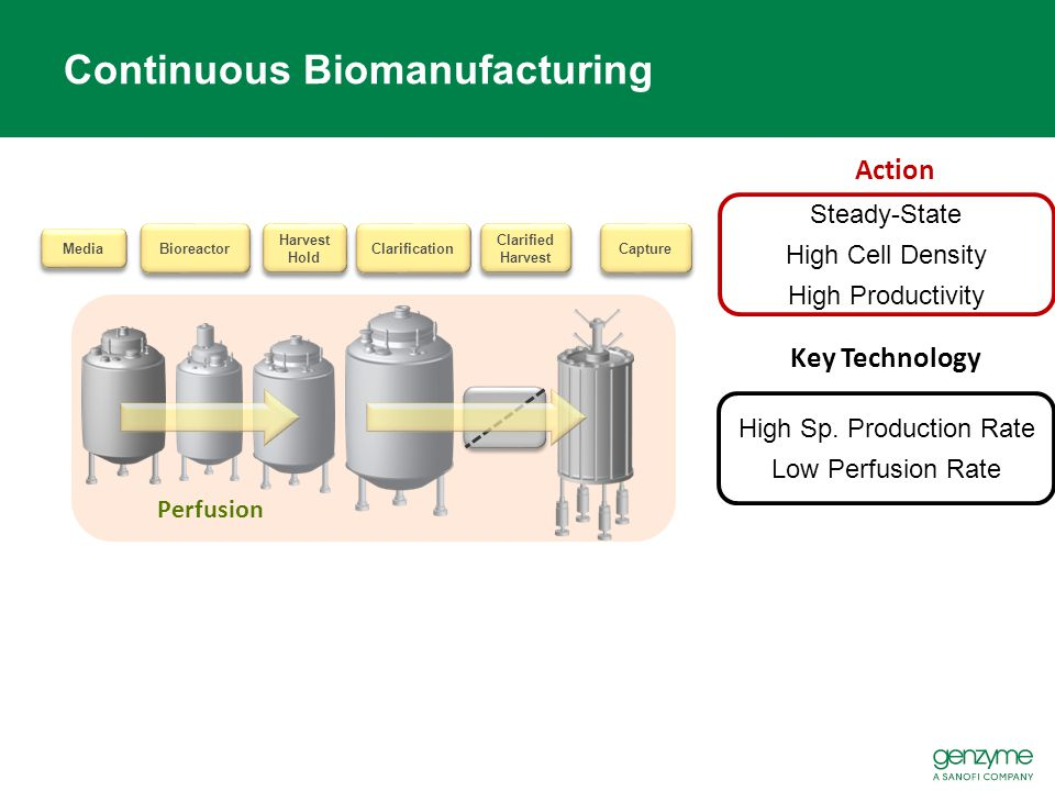 Capture Clarified Harvest Bioreactor Media Harvest Hold Clarification Perfusion Continuous Biomanufacturing Action Steady-State High Cell Density High