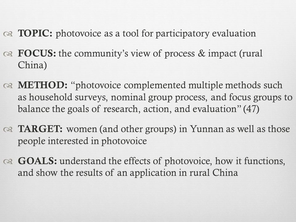 What is photovoice?What is photovoice.