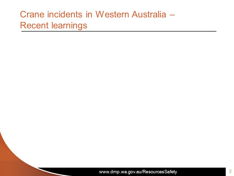 Crane incidents in Western Australia – Recent learnings 2