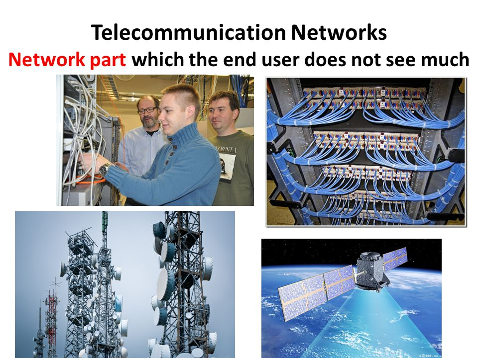 Telecommunication Networks Network part which the end user does not see much