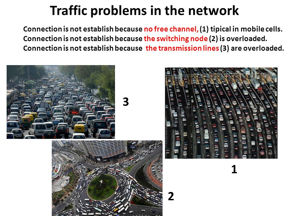 Traffic problems in the network Connection is not establish because no free channel, (1) tipical in mobile cells.