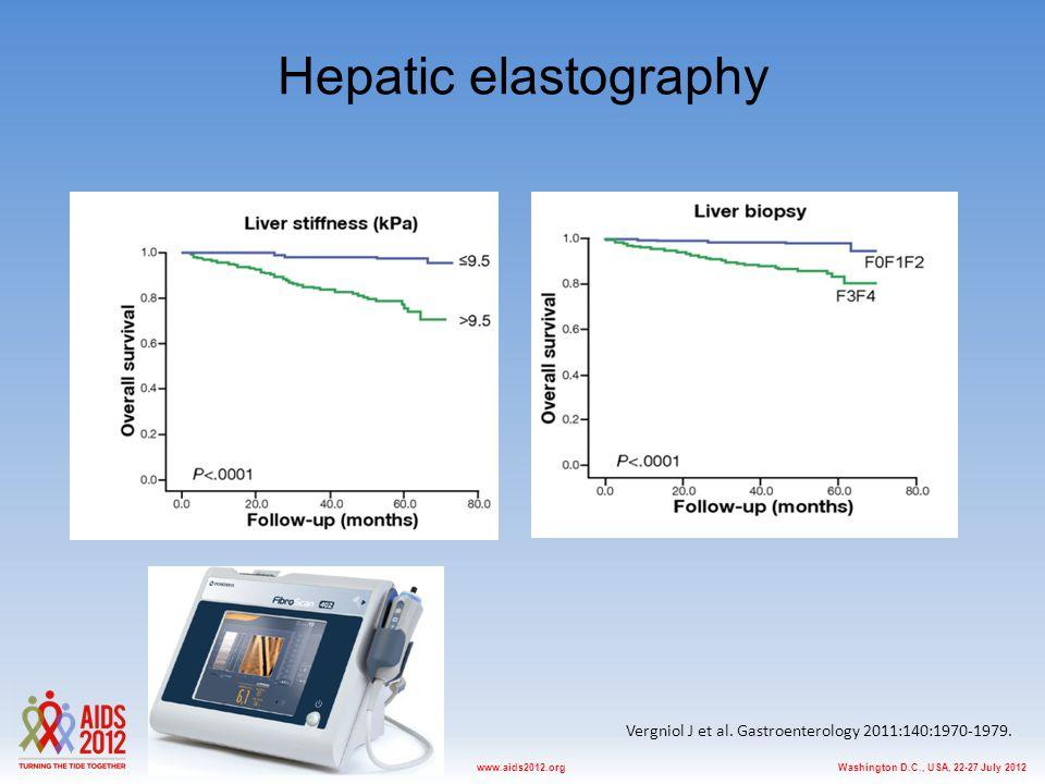 Washington D.C., USA, 22-27 July 2012www.aids2012.org Hepatic elastography Vergniol J et al. Gastroenterology 2011:140:1970-1979.
