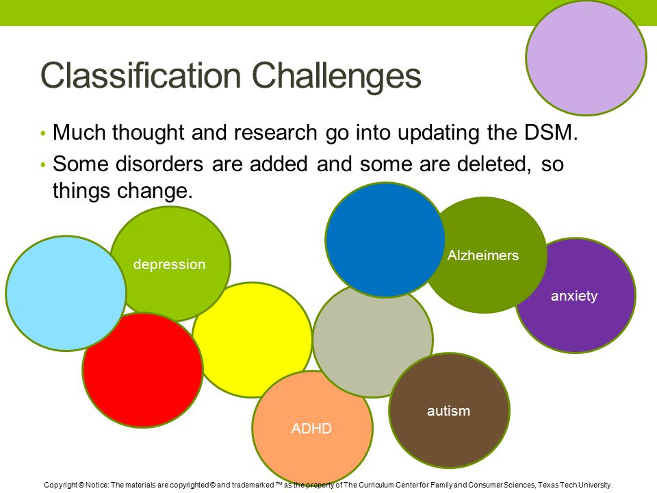 Classification Challenges Much thought and research go into updating the DSM.