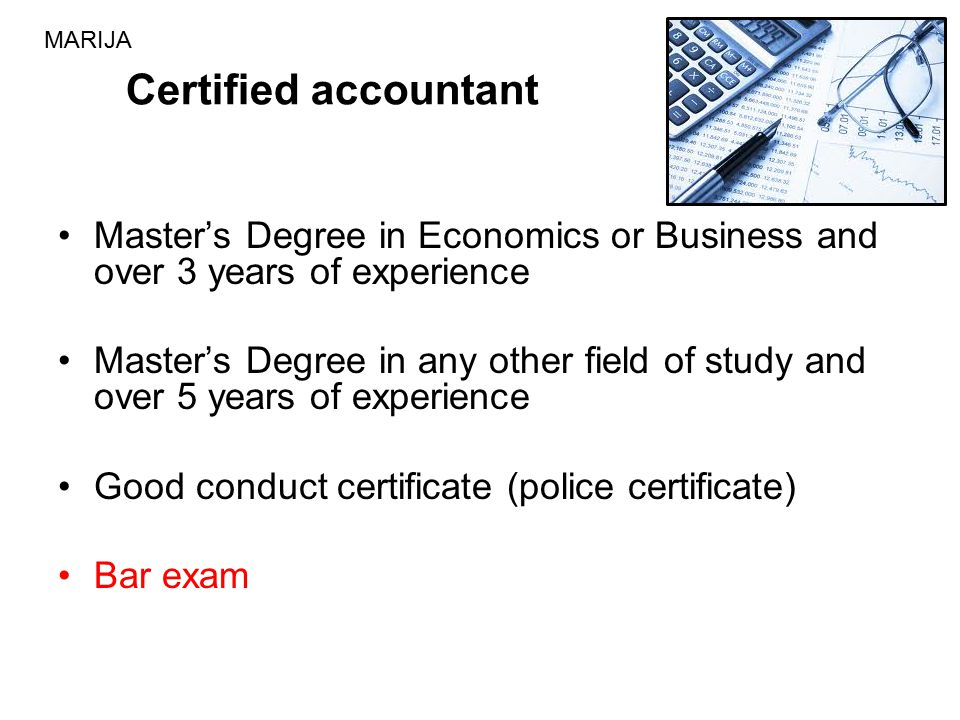 Master's Degree in Economics or Business and over 3 years of experience Master's Degree in any other field of study and over 5 years of experience Goo