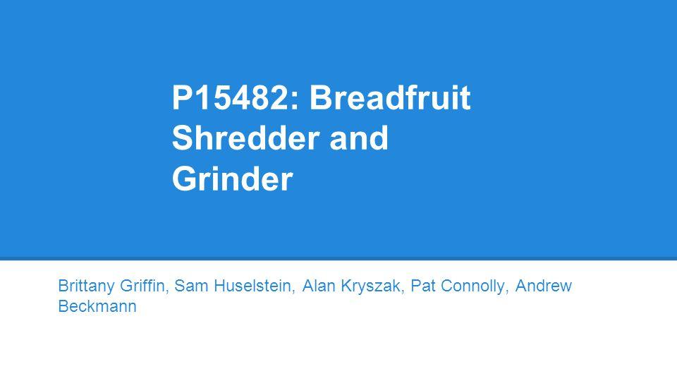 P15482: Breadfruit Shredder and Grinder Brittany Griffin, Sam Huselstein, Alan Kryszak, Pat Connolly, Andrew Beckmann
