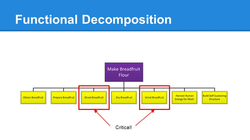 Functional Decomposition Critical!