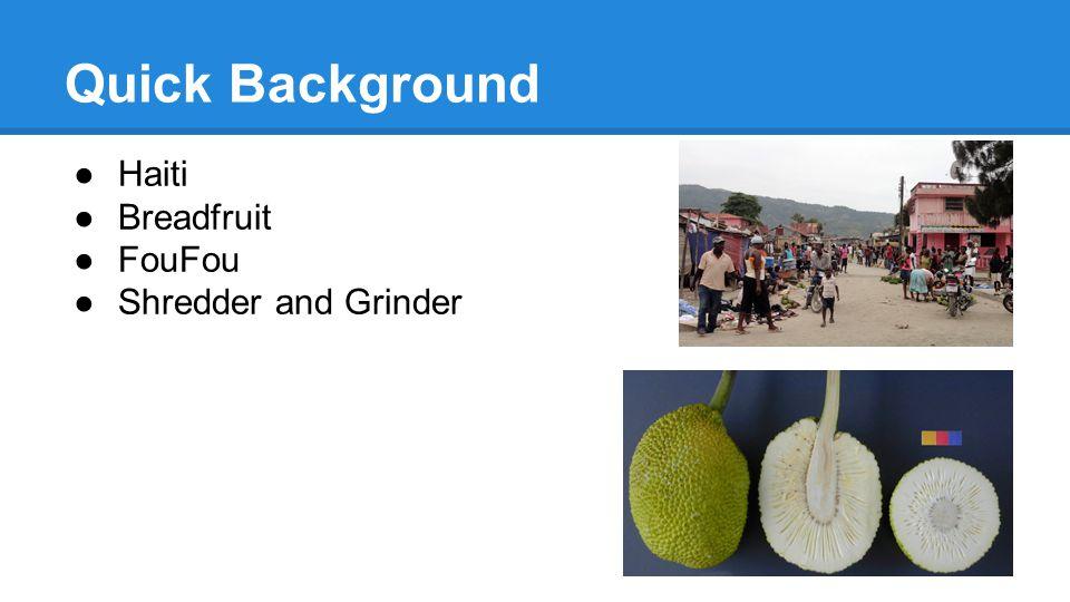 ●Haiti ●Breadfruit ●FouFou ●Shredder and Grinder Quick Background