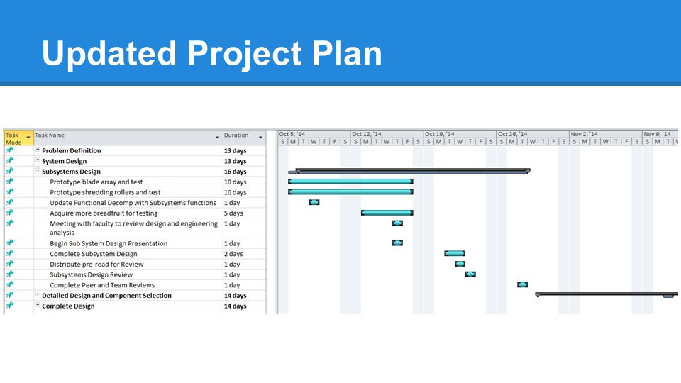 Updated Project Plan