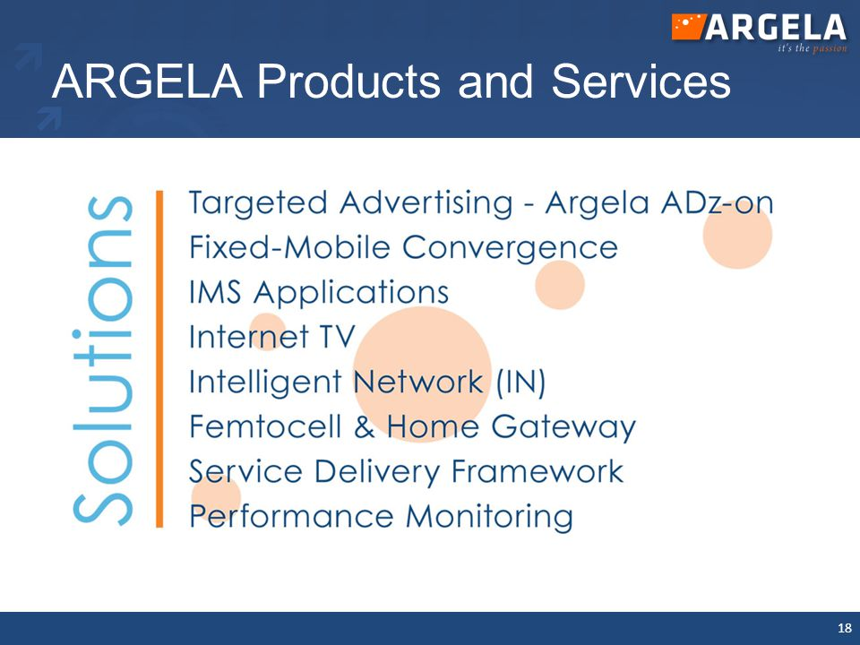 ARGELA Products and Services 18