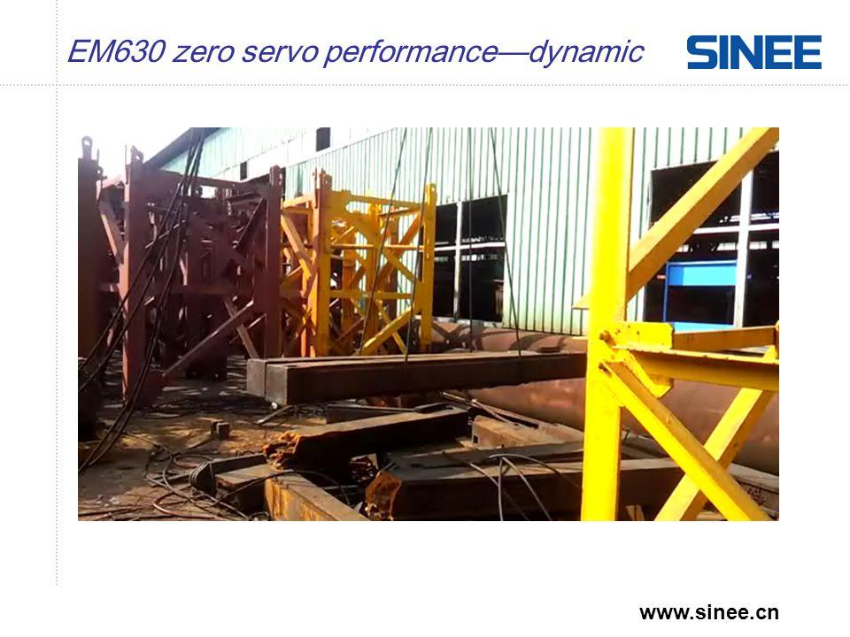 www.sinee.cn EM630 zero servo performance—dynamic