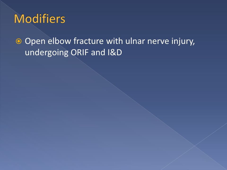  Open elbow fracture with ulnar nerve injury, undergoing ORIF and I&D