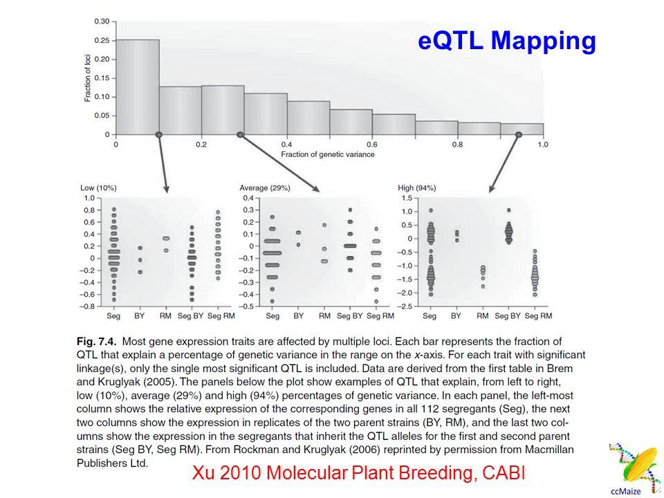 eQTL Mapping Xu 2010 Molecular Plant Breeding, CABI
